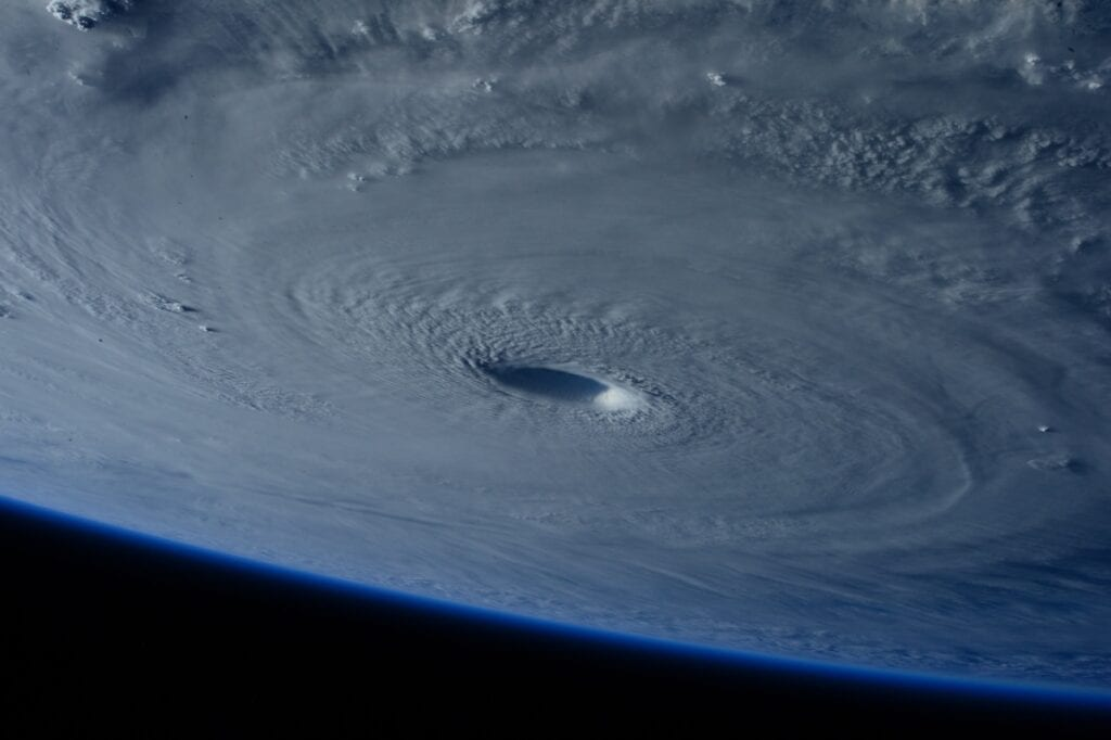 picture of a hurricane over florida from NASA